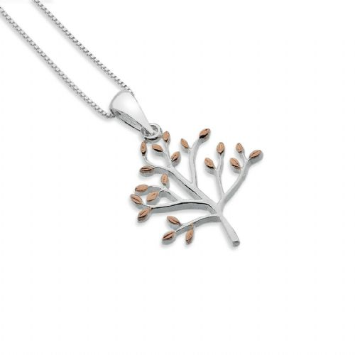 Olive Tree Pendant Sterling Silver 925 Hallmark Rose Gold All Chain Lengths